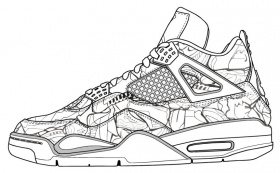 Jordan Shoes Coloring Page