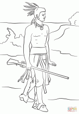squanto coloring page