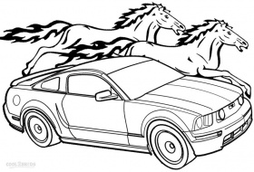 Mustang - Coloring Pages for Kids and for Adults