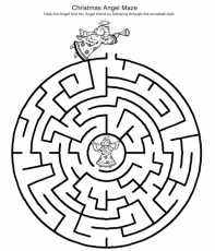 Christmas Mazes - Best Coloring Pages For Kids | Christmas activities for  kids, Printable christmas games, Christmas maze