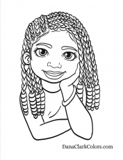 Free Coloring Pages - DanaClarkColors.com | People coloring pages, Coloring  pages for girls, Coloring books