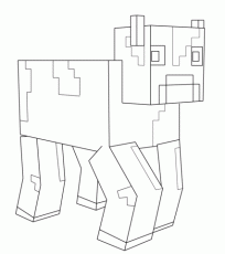 Minecraft Cow coloring page | Free Printable Coloring Pages