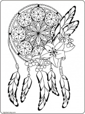 Dream Catcher Adult coloring page | Coloring, Adult coloring pages ...