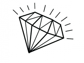 The best free Diamond coloring page images. Download from ...