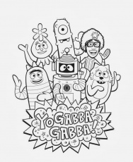 Inspired by Savannah: Enter My Yo Gabba Gabba! Coloring Contest