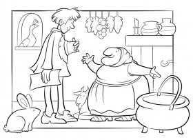 strega nona coloring pages