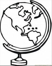 World Globe Colouring Pages (page 3)