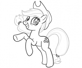Applejack Pony Coloring Page Images & Pictures - Becuo