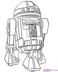 angry birds r2d2 Coloriage