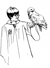 God Father Of Harry Potter Coloring Pages - Harry Potter Coloring