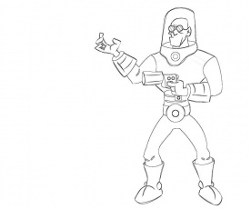 mr freeze coloring pages