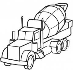 Printable Cement Truck Coloring Page | Coloring Pages 4 Free