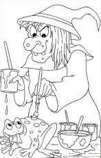 Coloring Pages Witch 05 Source (Other > Painting) - free printable