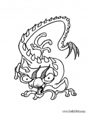 Scary Monster Coloring Pages Free Scary Monster Coloring Pages