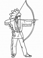 coloring pages indians