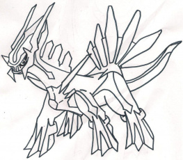 Pokemon Palkia And Dialga Coloring Pages Pokemon Coloring