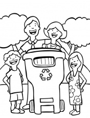 Recycle Coloring Page | recycling and nature
