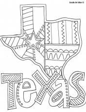 Texas Coloring Page by Doodle Art Alley | I Love Free Printables | P…