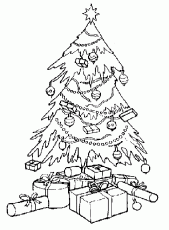 Free Coloring Christmas Tree
