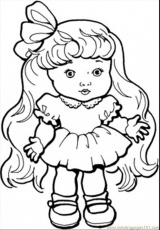 Coloring Pages Baby Girl With Long Hair (Peoples > Gender) - free