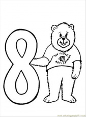 Coloring Pages Number 8 Coloring Page (Education > Numbers) - free