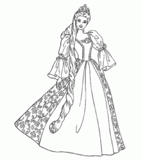 Barbie Island Princess Printable Coloring Pages