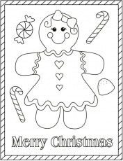 gingerbread girl | Christmas Coloring Pages