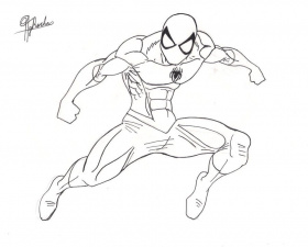 Spider-Man Lineart V1 by Spideyfan3714 on deviantART