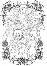 tinkerbell and friends coloring pages to print