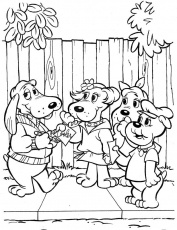 Coloring Pages: courage the cowardly dog coloring pages Courage