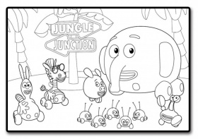 Jungle Junction Jpg 127604 Jungle Junction Coloring Pages