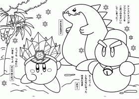 Kirby Coloring Pages for Kids- Free Printable Coloring Worksheets