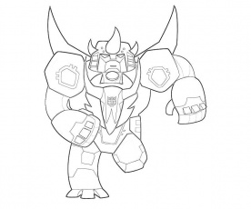 Transformers Fall of Cybertron Snarl Cartoon | Surfing