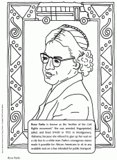 Rosa Parks Smiling With Glasses Coloring Page