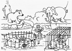 Baby Zoo Animal Coloring Pages Images & Pictures - Becuo