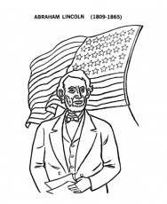 abraham lincoln coloring page - Quoteko.com