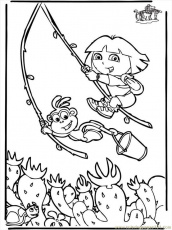 Coloring Pages Dora The Explorer 6 B3005 (Cartoons > Dora the