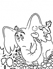 horton hatches the egg coloring page