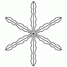 Snowflake - Coloring Page (