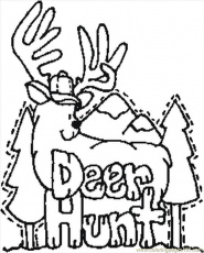 Deer Hunting Coloring Pages For Kids Images & Pictures - Becuo