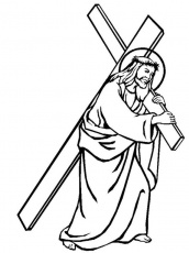 coloring pages of jesus on the cross