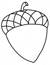 acorns coloring pages