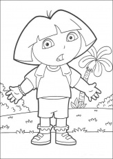 DORA THE EXPLORER coloring pages - Happy Birthday Boots