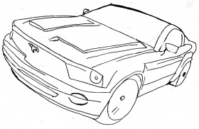 mustang gt coloring pages