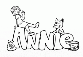 little orphan annie coloring pages