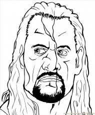 The Rock Wrestling Colouring Pages
