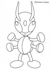 BUG POKEMON coloring pages - Flying Ledian