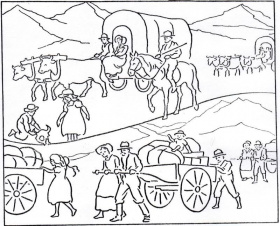 coloring pages pioneers