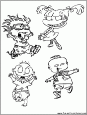 Rugrats Coloring Pages Chuckie Rugrats Coloring Pages Rugrats