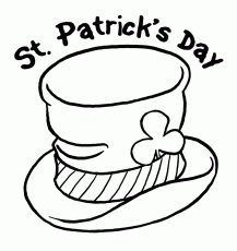 Printable st-paticks-day-hat-coloring-page - Coloringpagebook.com